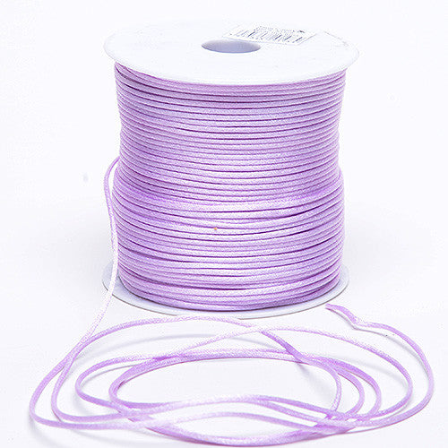 2mm Satin Rat Tail Cord Lavender ( 2mm x 100 Yards )