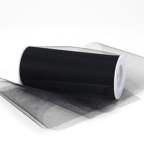 Black Premium Tulle Fabric ( 6 inch | 25 Yards ) -