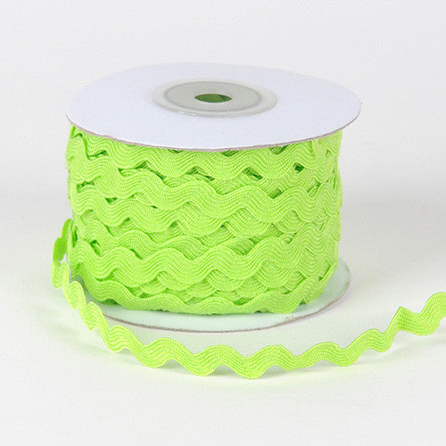 Ric Rac Trim Apple Green ( 7mm - 25 Yards ) -