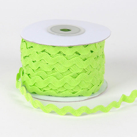 Ric Rac Trim Apple Green ( 10mm - 25 Yards ) -