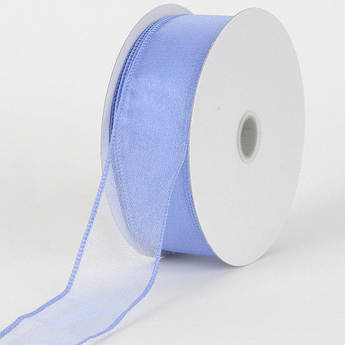 Organza Ribbon Thick Wire Edge 25 Yards Iris ( 2-1/2 inch | 25 Yards ) -