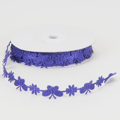 Satin Butterflies Purple ( 3/4 Inch x 25 Yards ) -