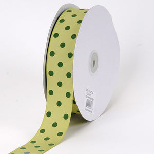 Grosgrain Ribbon Polka Dot Pear with Willow Dots ( 1-1/2 inch | 50 Yards ) -