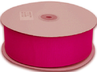 Grosgrain Ribbon Solid Color 25 Yards Fuchsia ( W: 1-1/2 inch | L: 25 Yards ) -