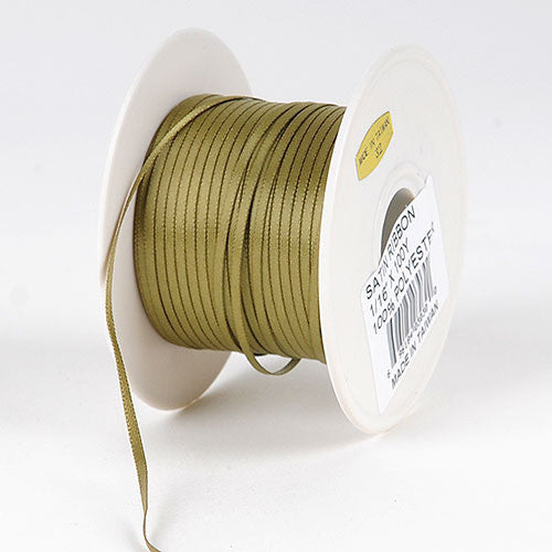 Satin Ribbon 1/16 x 100 Yards Willow ( W: 1/16 inch | L: 100 Yards )