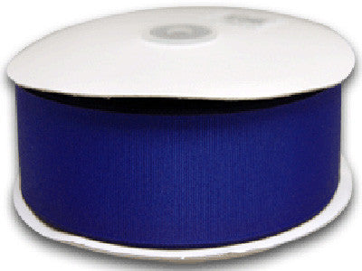 Grosgrain Ribbon Solid Color 25 Yards Royal Blue ( W: 1-1/2 inch | L: 25 Yards ) -
