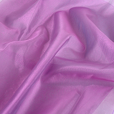 Two Tone Organza Overlays Mauve Blue ( W: 28 inch | L: 108 Inches )- Ribbons Cheap