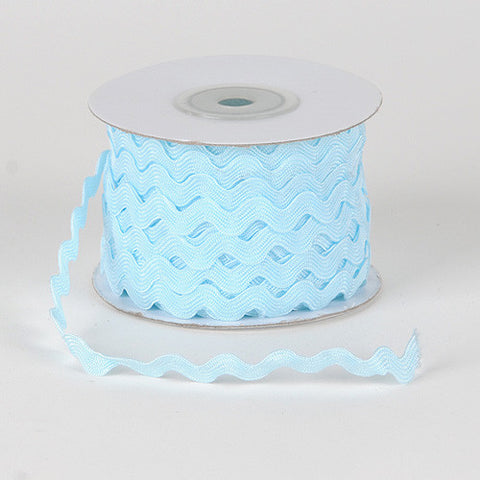 Ric Rac Trim Light Blue ( 7mm - 25 Yards ) -