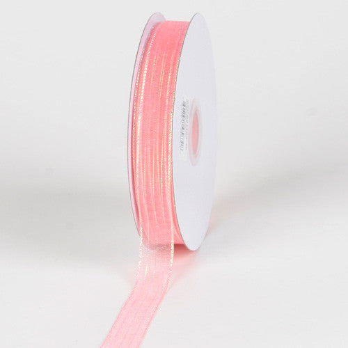 Corsage Ribbon Coral ( W: 3/8 inch | L: 50 Yards ) -