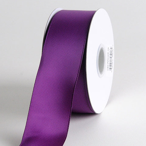 Satin Ribbon Wire Edge Eggplant ( W: 1-1/2 inch | L: 25 Yards ) -