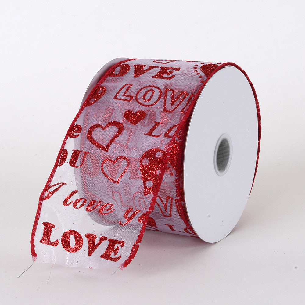 Valentine Ribbon Red ( 2.5 Inch x 10 Yards ) -