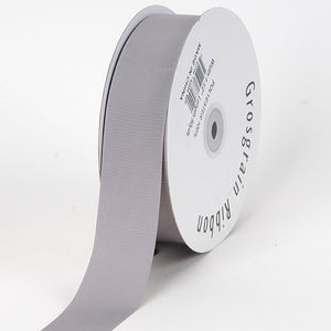 Grosgrain Ribbon Solid Color Silver ( W: 3/8 inch | L: 50 Yards ) -
