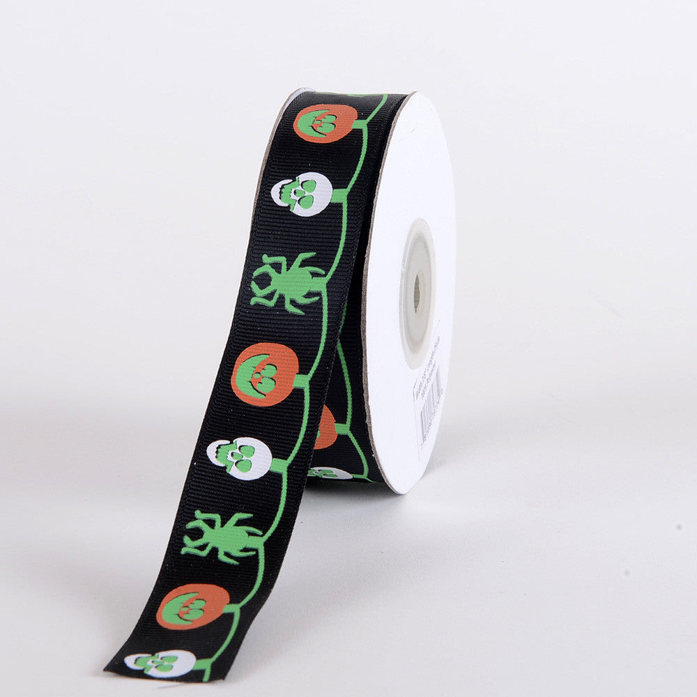 Halloween Ribbon Black ( 7/8 inch x 25 yards ) -