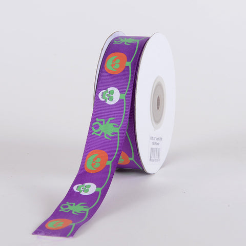 Halloween Ribbon Purple ( 5/8 inch x 25 yards ) -