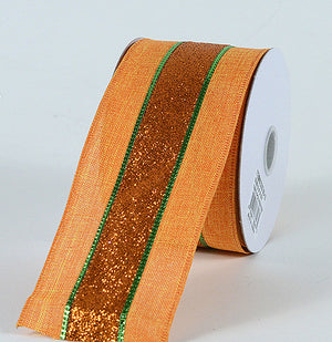 Christmas Ribbon Orange ( 2-1/2 Inch x 10 Yards ) -