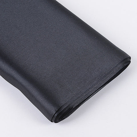Premium Satin Fabric Black ( W: 60 inch | L: 10 Yards ) -