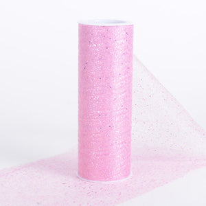 6 Inch Confetti Organza Roll Pink ( W: 6 inch | L: 10 yards ) - Ribbons Cheap
