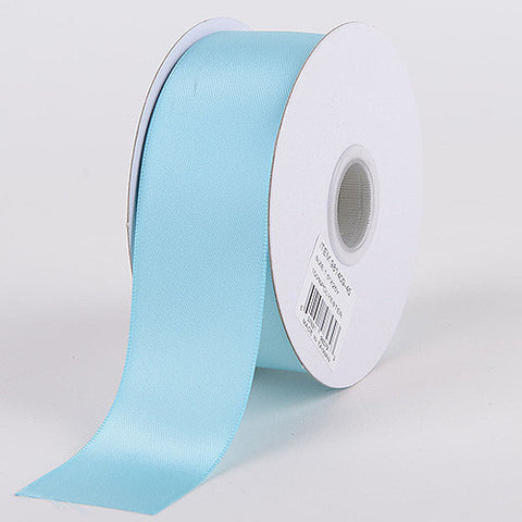 Satin Ribbon Double Face Aqua Blue ( W: 5/8 inch | L: 25 Yards ) -
