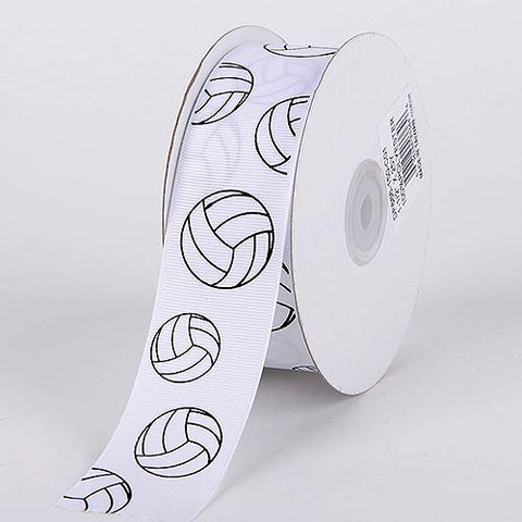 Grosgrain Ribbon Sports Design Volleyball ( W: 3/8 inch | L: 25 Yards ) -