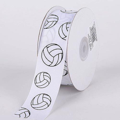 Grosgrain Ribbon Sports Design Volleyball ( W: 7/8 inch | L: 25 Yards ) -