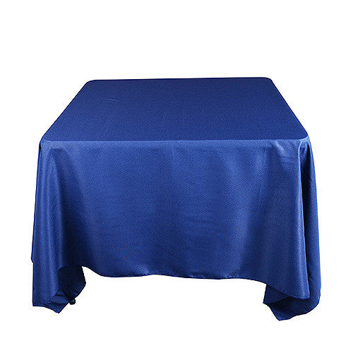 Navy  85 x 85 Square Tablecloths  ( 85 Inch x 85 Inch )- Ribbons Cheap
