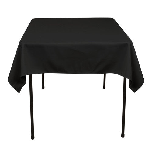 Black  70 x 70 Square Tablecloths  ( 70 inch x 70 inch )- Ribbons Cheap