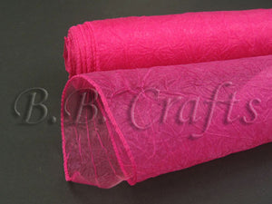 Fuchsia  Premium Crinkle Organza Overlays  ( W: 24 inch | L: 10 Yards )- Ribbons Cheap