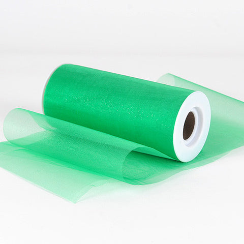 Organza Fabric 6 inch Emerald ( W: 6 inch | L: 25 Yards ) -