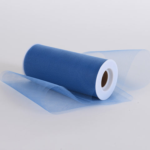 Smoke Blue Premium Tulle Fabric ( 6 inch | 25 Yards ) -
