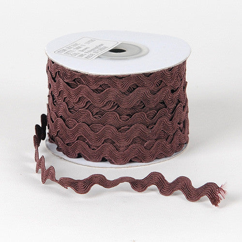 Ric Rac Trim Brown ( 7mm - 25 Yards )