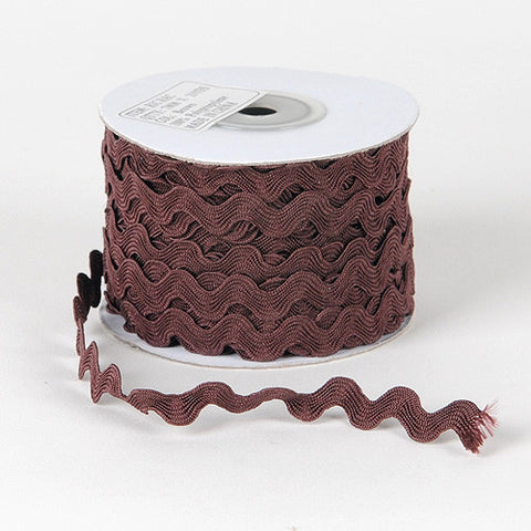 Ric Rac Trim Brown ( 7mm - 25 Yards ) -