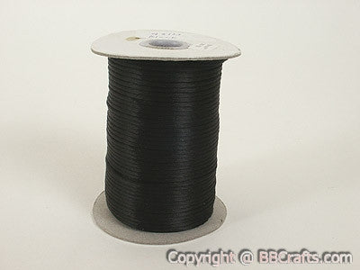 3mm Satin Rat Tail Cord Black ( 3mm x 100 Yards )