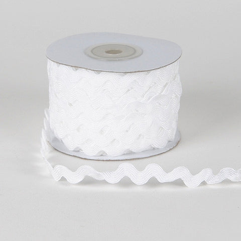 Ric Rac Trim White ( 5mm - 25 Yards ) -