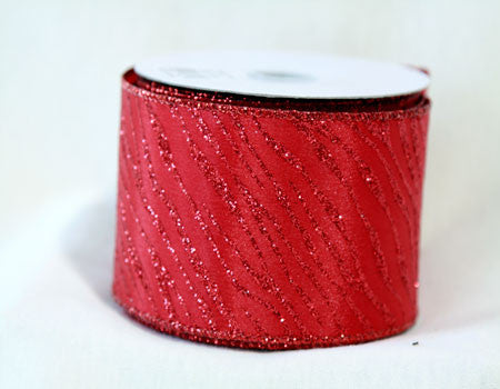 Animal Print Ribbon Red ( 2-1/2 Inch x 10 Yards ) - Ribbons Cheap