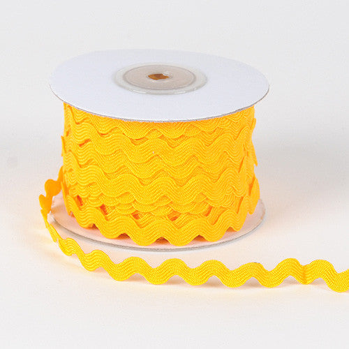 Ric Rac Trim Light Gold ( 7mm - 25 Yards ) -