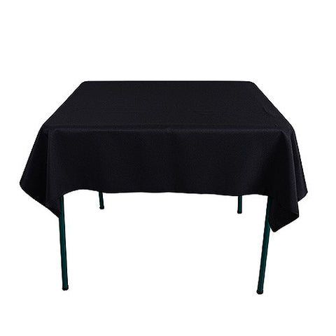 Black  85 x 85 Square Tablecloths  ( 85 Inch x 85 Inch )- Ribbons Cheap