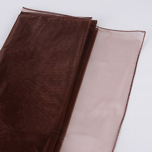 Wedding Organza Fabric Decor Chocolate Brown ( W: 28 inch | L: 216 Inches ) -