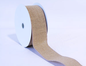 Burlap Ribbon Natural ( W: 1-1/2 inch | L: 10 Yards ) -