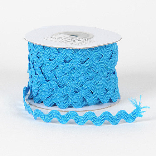 Ric Rac Trim Turquoise ( 7mm - 25 Yards ) -