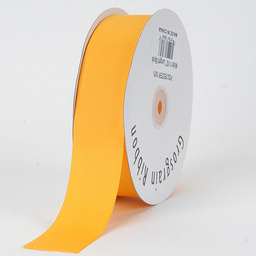 Grosgrain Ribbon Solid Color Light Gold ( W: 5/8 inch | L: 50 Yards )