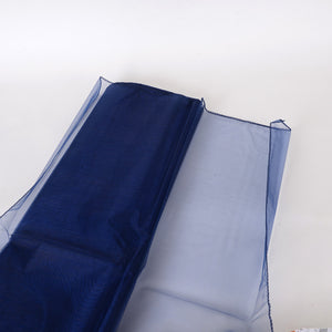 Wedding Organza Fabric Decor Navy Blue ( W: 28 inch | L: 216 Inches ) -