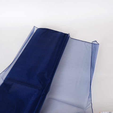 Wedding Organza Fabric Decor Navy Blue ( W: 58 inch | L: 360 Inches ) -