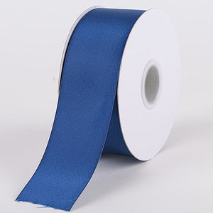 Satin Ribbon Double Face Navy Blue ( W: 5/8 inch | L: 25 Yards ) -