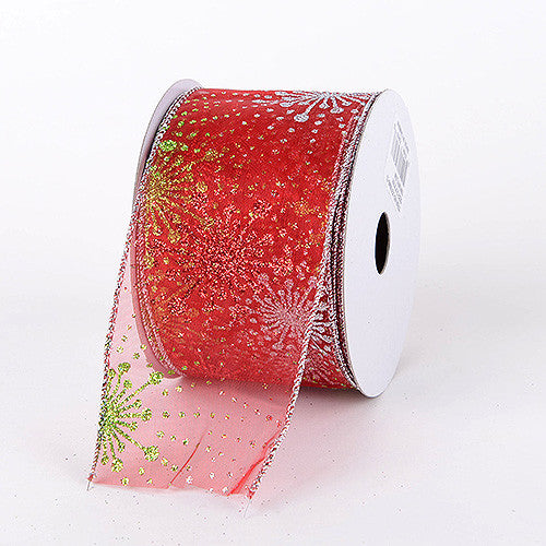 Christmas Ribbon Red ( 2-1/2 Inch x 10 Yards ) -