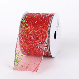 Christmas Ribbon Red ( 1-1/2 Inch x 10 Yards ) -