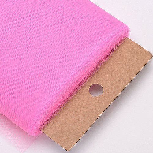 54 Inch Premium Tulle Fabric Bolt Hot Pink ( W: 54 inch | L: 40 Yards ) - Ribbons Cheap