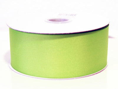 Grosgrain Ribbon Solid Color 25 Yards Kiwi ( W: 1-1/2 inch | L: 25 Yards ) -