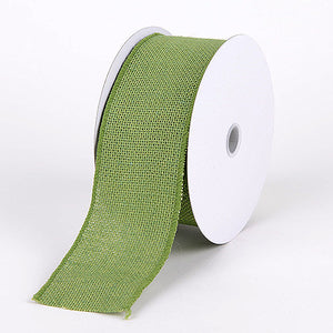 Burlap Ribbon Moss ( 2-1/2 inch | 10 Yards ) -
