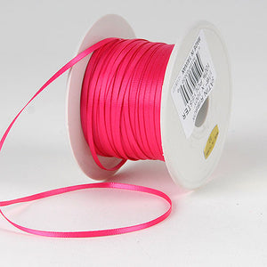 Satin Ribbon 1/16 x 100 Yards Shocking Pink ( W: 1/16 inch | L: 100 Yards ) -