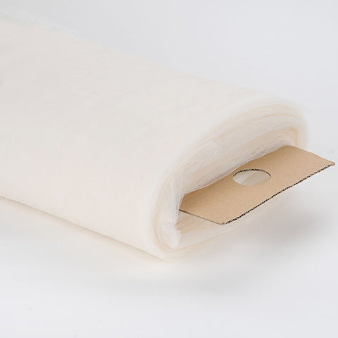 108 Inch Premium Tulle Fabric Bolt Ivory ( W: 108 inch | L: 50 Yards ) - Ribbons Cheap